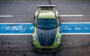 Картинка 911, Porsche, вид сверху, Turbo S, TechArt, 2019, GT Street RS