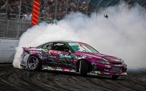 Картинка drift, s15, formula drift, silvia s15, 2jz power, Silvia • Nissan • Nissan Silvia, forrest …