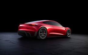 Картинка Roadster, вид сзади, Tesla, 2020