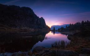 Картинка озеро, Франция, Изер