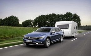 Картинка Volkswagen, прицеп, универсал, Passat, Alltrack, 2019
