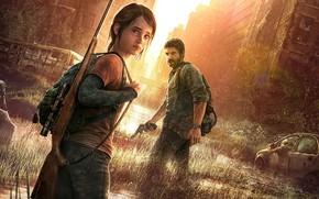 Картинка город, Joel, Ellie, The Last Of Us