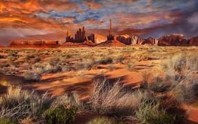 Картинка пейзаж, природа, Monument Valley View