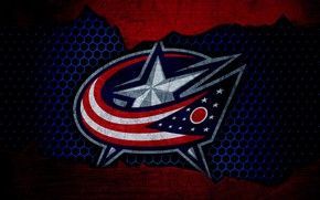 Картинка wallpaper, sport, logo, NHL, hockey, Columbus Blue Jackets