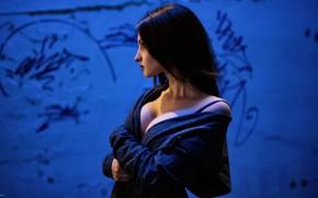 Картинка грудь, волосы, Девушка, Yura Warner, Alina Cortez
