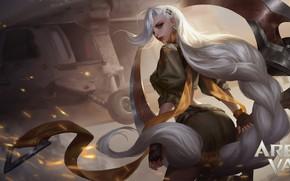 Картинка взгляд, девушка, ветер, воительница, Arena of Valor