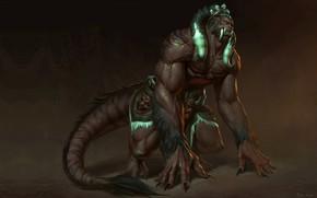 Картинка фэнтези, арт, The Tiger-monster, Naranbaatar Ganbold