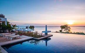 Картинка море, вилла, бассейн, Африка, курорт, Tanzania, Zanzibar, villa Aiyana