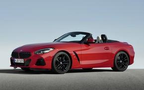 Картинка небо, асфальт, красный, BMW, родстер, BMW Z4, First Edition, M40i, Z4, 2019, G29