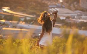 Картинка девушка, город, поза, волосы, спина, Igor Egorov