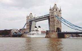 Картинка вода, мост, река, Англия, Лондон, London, England, круиз