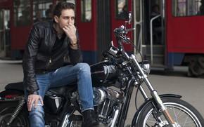 Картинка куртка, мотоцикл, мужчина, Милош Бикович