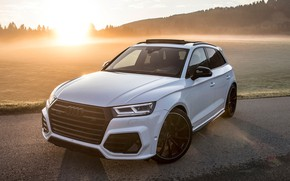 Картинка закат, Audi, 2018, кроссовер, ABT, Widebody, SQ5