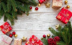 Картинка ветки, праздник, новый год, подарки, композиция, Olena Rudo