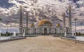 Картинка Turkmenistan, Ashkabat, monumental, Türkmenbaşy Ruhy Mosque