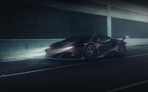 Картинка Авто, Lamborghini, Машина, Car, Render, Суперкар, Night, Aventador, Lamborghini Aventador, Рендеринг, Supercar, Concept Art, Sportcar, …