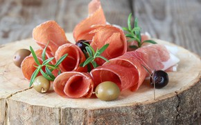 Картинка мясо, оливки, бекон