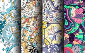 Картинка цветы, узор, colorful, орнамент, patterns, seamless, пейсли