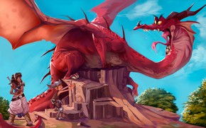 Картинка Fantasy, Dragon, Illustration, by Alex Mamedes, Alex Mamedes, Dragon Brazil, Dragão Brasil