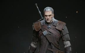 Картинка the witcher, ведьмак, персонаж, Геральт, Геральт из Ривии, Geralt From Rivia, охотник на чудовищ