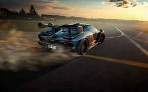 Картинка закат, McLaren, скорость, вечер, суперкар, Senna, Novitec, 2020
