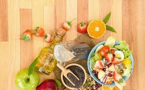 Картинка ягоды, масло, ассортимент, Салат
