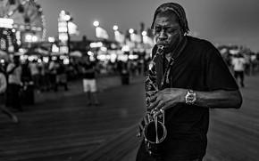 Картинка музыка, человек, саксофон
