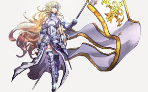 Картинка девушка, фон, флаг, Fate / Grand Order, Судьба великая кампания