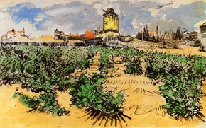 Картинка Vincent van Gogh, Daudet at Fontevielle, The Mill of Alphonse