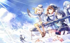 Картинка небо, персонажи, Oounabara to Wadanohara