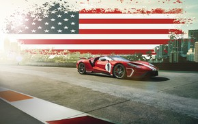 Обои Ford, Muscle, USA, RED, America, SuperCar