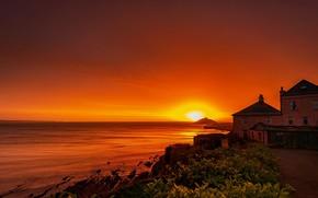Картинка рассвет, утро, Ирландия