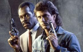 Картинка Мэл Гибсон, Mel Gibson, Lethal Weapon, Смертельное оружие, Дэнни Гловер, Danny Glover