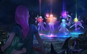 Картинка Lux, Ahri, Soraka, Syndra, League Of Legends, Miss Fortune, Lulu, Ezreal, Star Guardians
