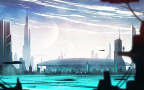 Картинка город, здания, сооружение, водоём, Galactic Senate