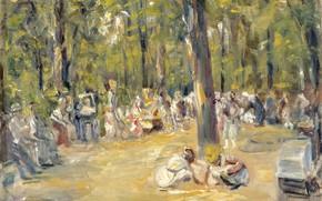 Картинка пейзаж, картина, Max Liebermann, Макс Либерман, Сцена в Парке