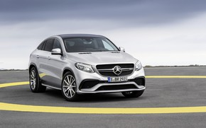 Обои GLE63, Mercedes, AMG, 2016, Coupe, 4Matic