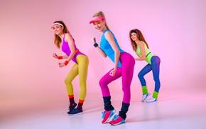 Картинка girls, stockings, sports, fitness, dans