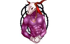 Картинка череп, существо, мужчина, Mahou Tsukai no Yome, Невеста чародея, Элиас