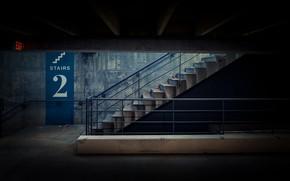 Картинка лестница, парковка, выход