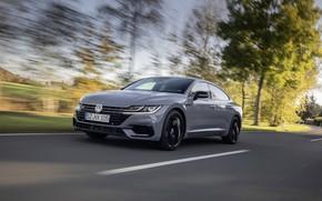 Картинка серый, купе, скорость, Volkswagen, лифтбэк, 2020, Arteon, 4Motion, R-Line Edition