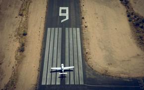 Картинка полоса, самолёт, аэродром, девять, Lufthansa European Flight School