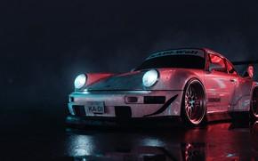 Картинка Машина, Transport & Vehicles, Porsche 911, by Vladi Kornienko, Porsche 911 RWB, Vladi Kornienko, Рендеринг, …