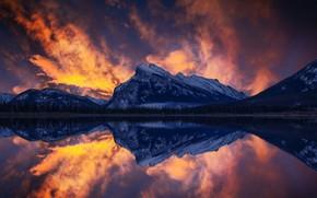 Картинка небо, горы, Канада, Canada, Banff, John S, Vermilion Lake