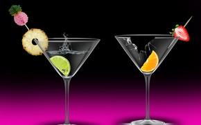 Картинка celebration, drinks, cups, cocktails, cheers