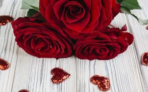 Картинка розы, букет, сердечки, красные, red, roses