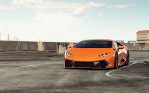 Картинка Lamborghini, Orange, VAG, Huracan, Sight, Novara