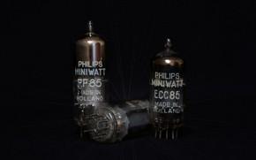 Обои Philips, radio tube, радиолампы, electron tube