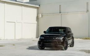 Картинка Land Rover, Range Rover, Black, Sport, Vossen, Sight, Restyle