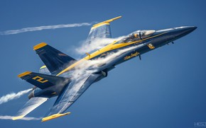 Картинка Фонарь, F/A-18, Blue Angels, Пилот, Пилотажная группа, Эффект Прандтля — Глоерта, F/A-18 Hornet, US NAVY, …